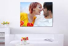 Foto su tela soggiorno_esempio coppia con fiori