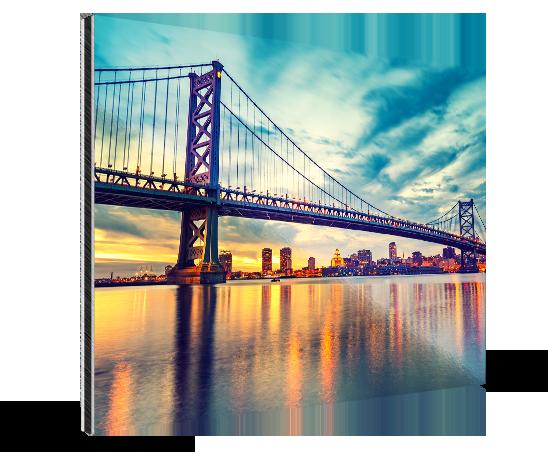 Landing alluminio dibond_esempio franklin bridge