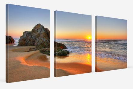 Pannelli in prospettiva_esempio tramonto spiaggia