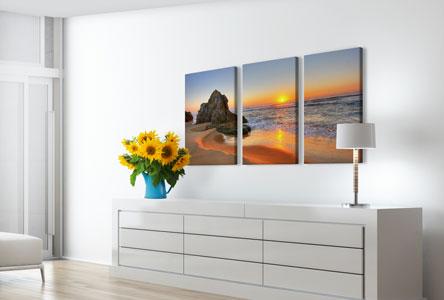 Pannelli soggiorno_esempio tramonto spiaggia