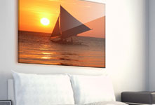 Plexiglass sopra divano_esempio barca a vela