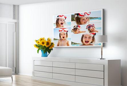 Soggiorno collage su tela_esempio bambino vacanza