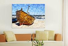 Soggiorno foto mosaico piccolo_esempio barca