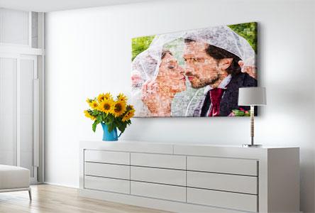 Soggiorno mosaico su tela_esempio sposi
