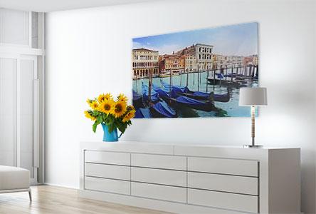 Soggiorno plexiglass_esempio barche Venezia