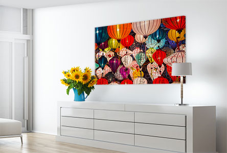 Soggiorno poster_esempio lampade colorate