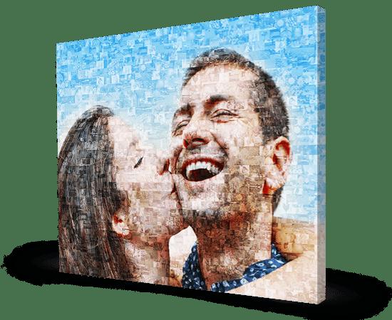 foto mosaico su tela