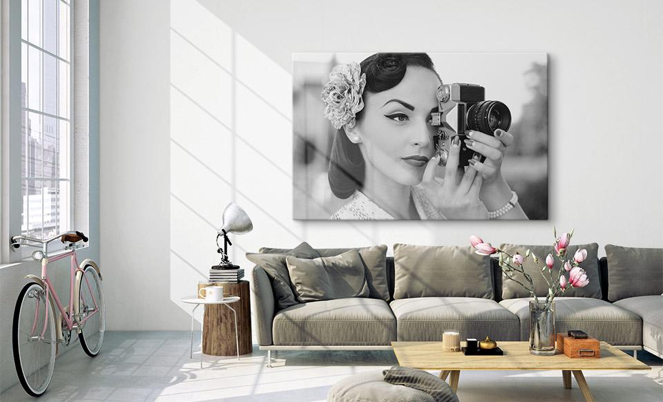 stampe su tela bianco e nero spazio di vita