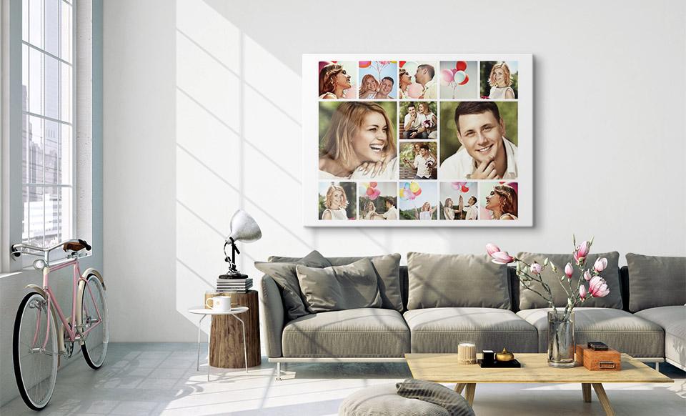 tela collage spazio di vita