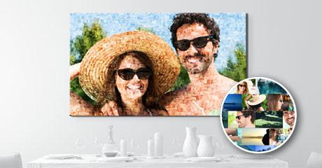 vista stanza mosaico su tela_esempio coppia occhiali da sole